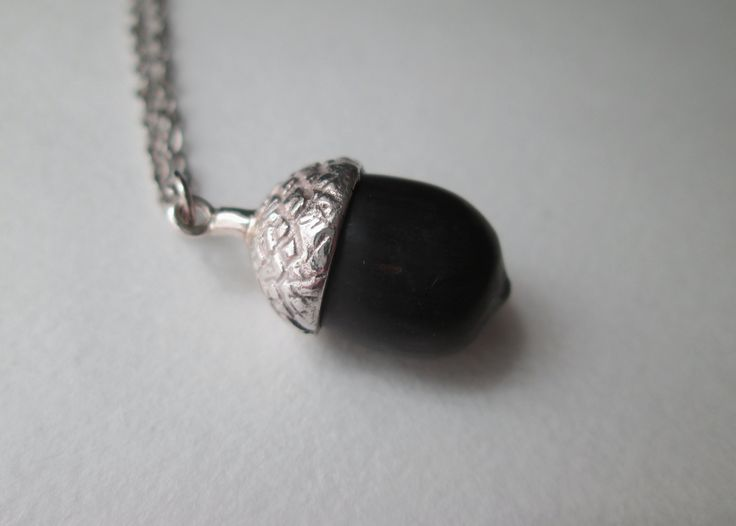 Acorn Pendant made out of silver and African Black Wood #silver #acorn #wood #casted #kinkel #gift #southafrican