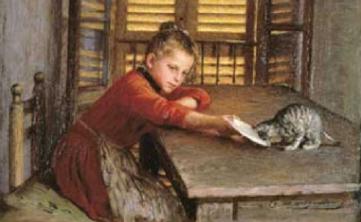 Emilio Longoni, Ragazzina col gatto