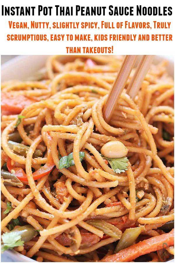 Thai Peanut Sauce Noodles Instant Pot  Vegan Peanut -1060
