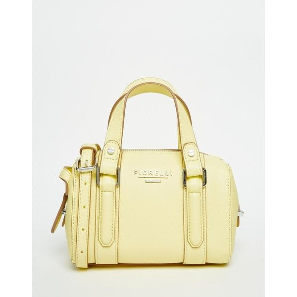 Fiorelli Mini Bowling Bag ($43) ❤ liked on Polyvore featuring bags, handbags, lemon, fiorelli, mini purse, bowler handbags, fiorelli handbags and fiorelli purses