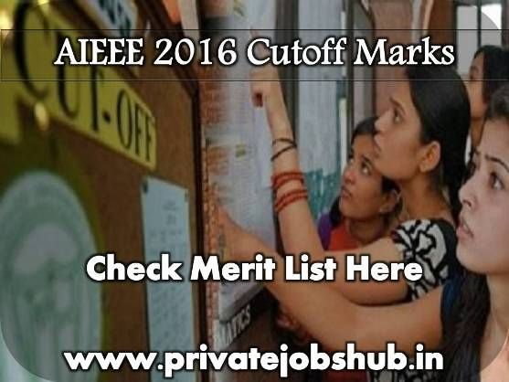 AIEEE 2016 Cutoff: All India Engineering Entrance Exams (AIEEE 2016) which is a common entrance exam leaded by Central board of secondary education organization.   http://www.privatejobshub.in/2012/04/aieee-2012-cutoff-marks.html