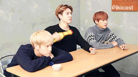Oh you know, just brushing up on my chicken throwing skills... Haha, JB's expression at the end, ㅋㅋㅋ #GOT7