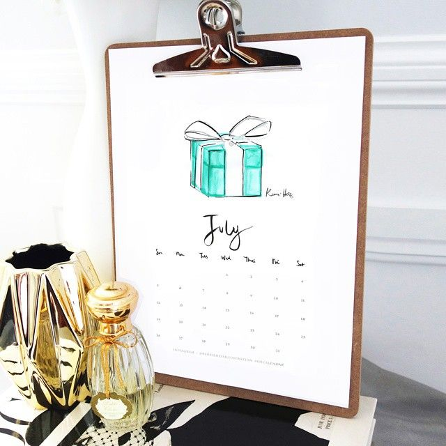 July is here! And because the nicest things often come in little blue boxes, your July calendar is ready to download from http://eepurl.com/baC4if If you have downloaded my previous calendars July is in your inbox! #khcalendar