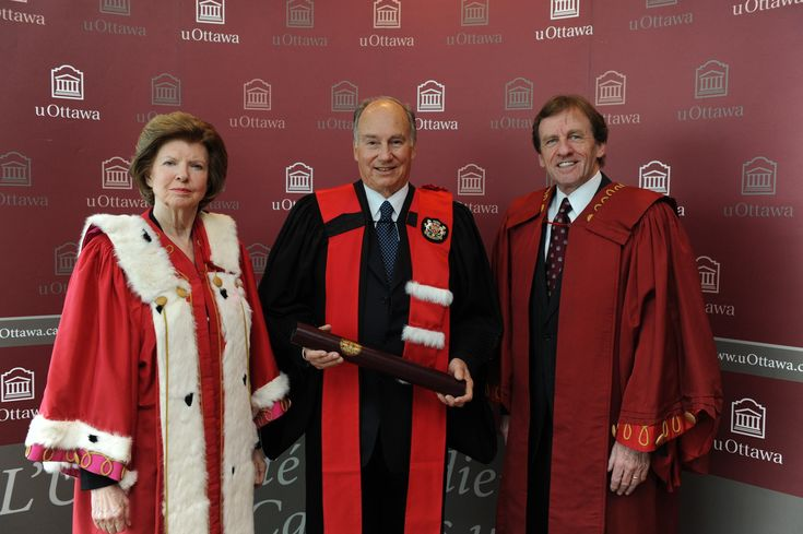 His Highness the Aga Khan at the University of Ottawa where he was confered the honorary degree Doctor of the University, 13 January 2012.