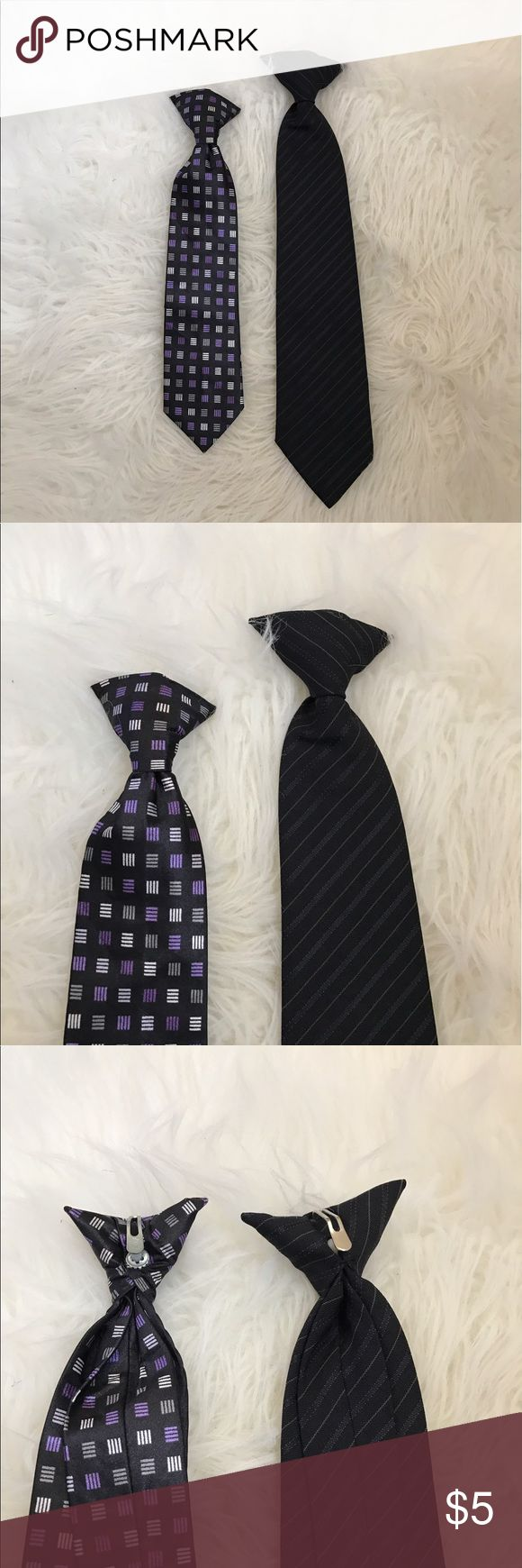 Set of boys clip on ties No flaws.good condition. Both are Clip ons. Accessories Ties