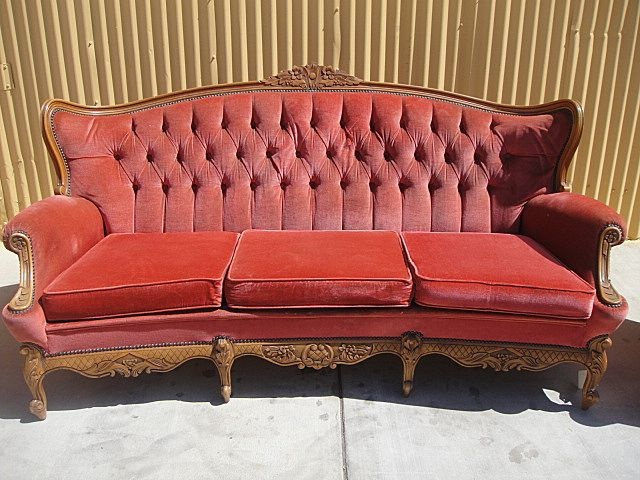 Carve Country French Sofa On Ruby Lane.com