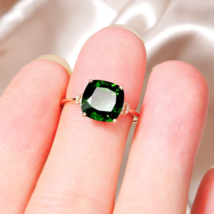 "Glitz Glam Blue Diamontrigue Jewelry: Buy ""Glamour Fashion Green Zircon Rose"