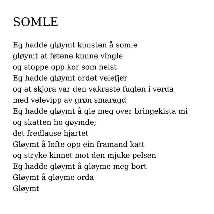 """1,766 likerklikk, 14 kommentarer – @renpoesi på Instagram: """"Å, les! ❤️ av Hans Sande fra samlingen med den nydelige tittelen Kunsten å somle #hanssande #dikt…"""""""