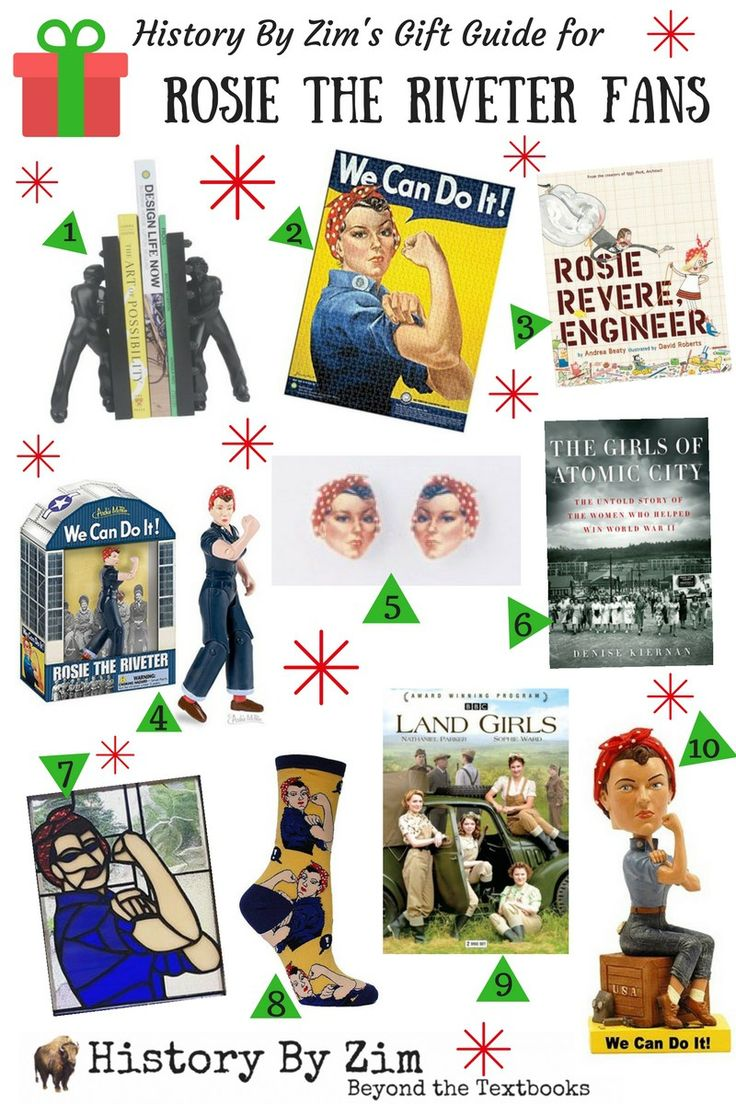 Day reenactment ww ii pictures pinterest - Gift Guide For The Rosie The Riveter Fan On Your List