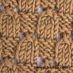 Great simple stitch that looks good on both sides #knitting