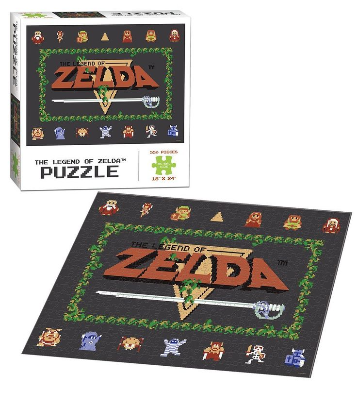 """USAopoly The Legend of Zelda Classic Puzzle 550 Piece 18"""" x 24"""" Finished Size"""