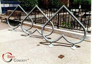 Heart shape bike rack