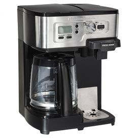 From bold espresso to light breakfast roasts, enjoy the perfect cup with this essential coffee maker. This innovative design lets you brew freshly ground java or convenient single-serve pods, offering versatile style for your kitchen.   Product: Coffee makerConstruction Material: Stainless steelColor: Silver and blackFeatures:  Adjustable cup rest allows for standard-size cups or travel mugsProgrammable timer with 2 hour automatic shutoff12 Cup carafe Compatible with K-Cup® Packs or ground…