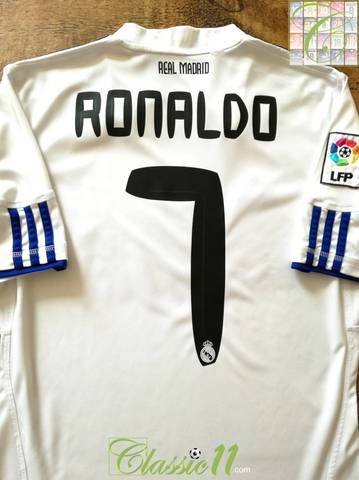 bef39a22fa50c Official Adidas Real Madrid home football shirt from the 2010 11 season.  Complete with Ronaldo  7 on the back of the shirt in official lettering and  La Liga ...