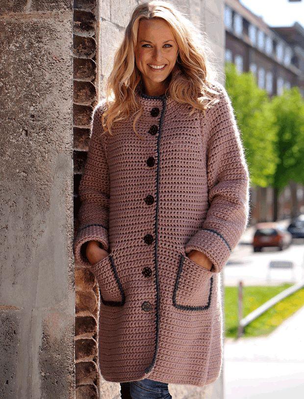Hækl en skøn og lun jakke | Femina
