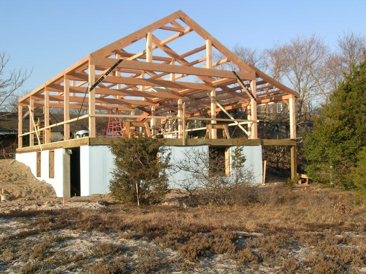 South County Post Beam Inc Gallery Timber Frame Post And Beam Homes Outdoor Buildings Post And Beam Timber Frame Garage