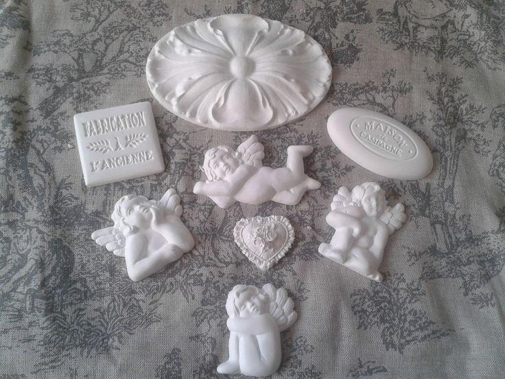 Sujet en platre - miniatures et petits objets - Pamprenelle et Fanfreluche - Fait Maison