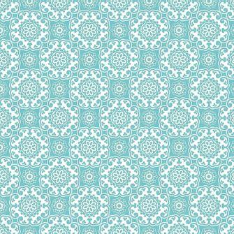 Vliesbehang barok turquoise (dessin 31-362)