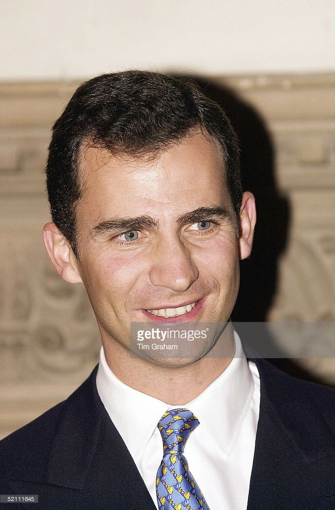 Prince Felipe [ Prince Of Asturias ] Attending A Reception At The Spanish Embassy In London.