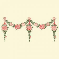 Трафарет Орнамент розовый ламбрекен (ренессанс)