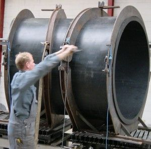 Pressure pipe bend