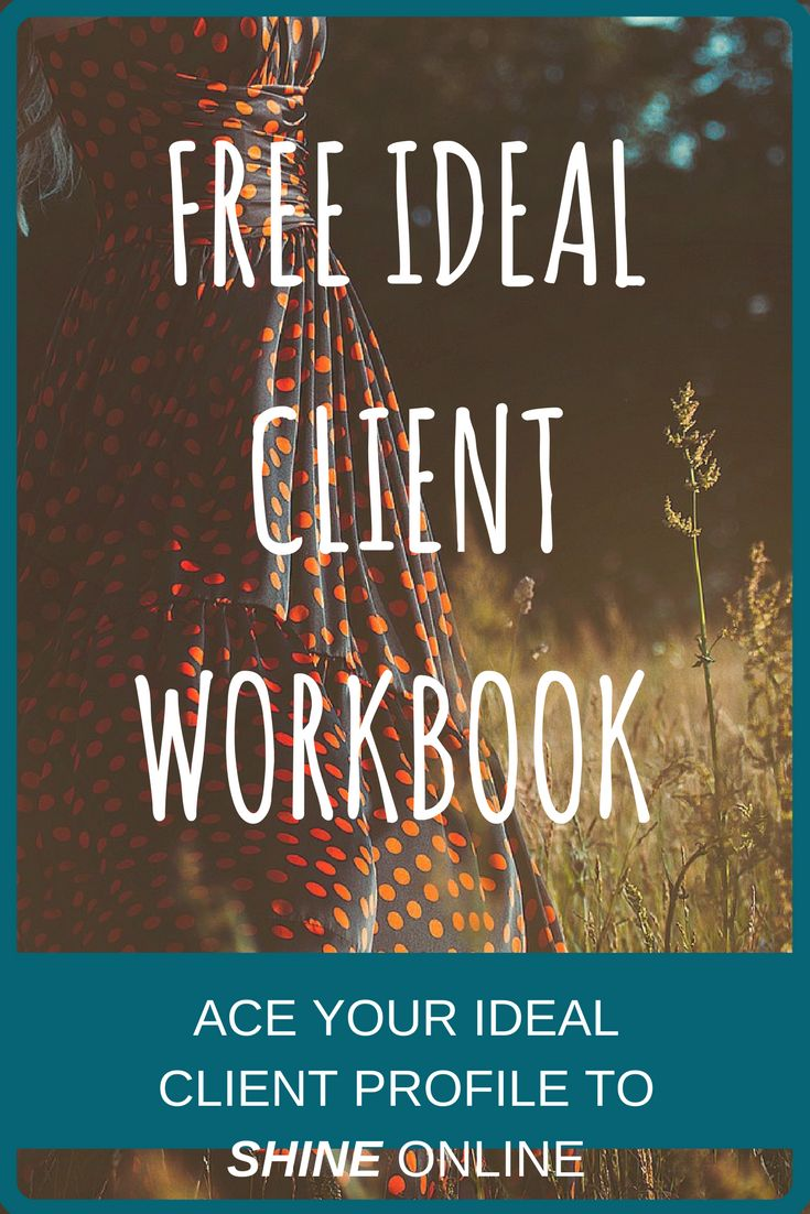 The backbone of any good business is having a clear ideal client profile. By using the FREE Ideal Client Workbook you can map out who to target and what their needs are. It is 100% printable and once complete your ideal client profile should be somewhere you can see it while working on your business.