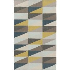 Gemma Rug, Blue and Yellow