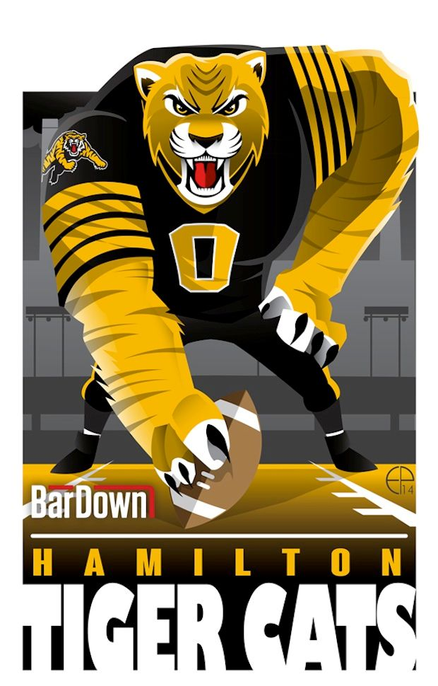 #EPoole88 (Eric Poole) is at it again, this time with the CFL. Here is his rendition for the Hamilton Tiger-Cats.