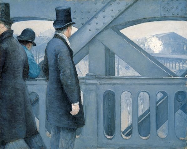 'On the Pont de l'Europe', oil on canvas painting by Gustave Caillebotte, 1876-77, Kimbell Art Museum - Place de l'Europe (Paris) — Wikipédia