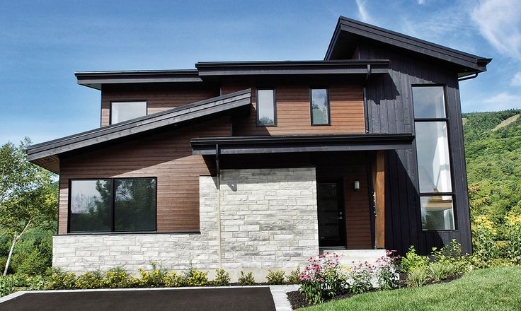 ake a look at modern-looking home in Quebec. Maibec's genuine wood siding have been used for this project. Find out more in our portfolio.