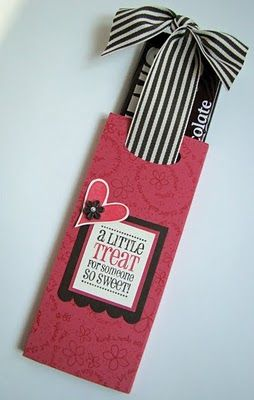 We made a version of these for a party favor for Mia's party...we wrapped candy bars and packs of gum!