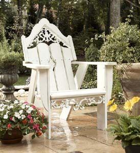 Pretty, Adirondack-style chair.