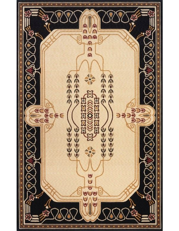Traditional Ivory Wool Rug (8ft. X 10ft.) Nouveau Arts and Craft by Momeni Rugs - $870.60