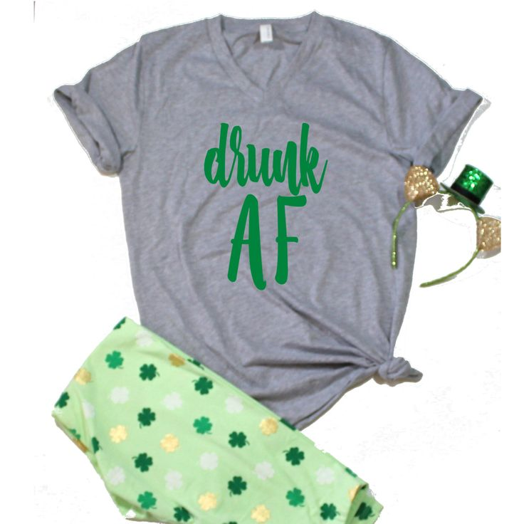 Drunk AF Unisex T-Shirt, S-2Xl, St. Patricks Day Shirt, St Pattys Day, St Patricks Day Funny Shirt, Drinking Shirt by ShopatBash on Etsy