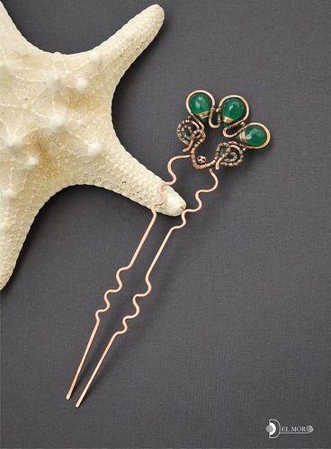 Шпилька для волос «Зеленый сад»