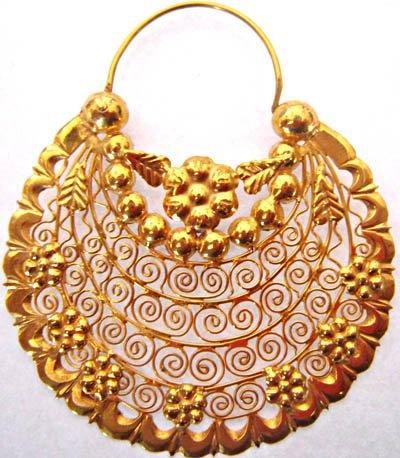 Arracadas Jerezanas de Oro