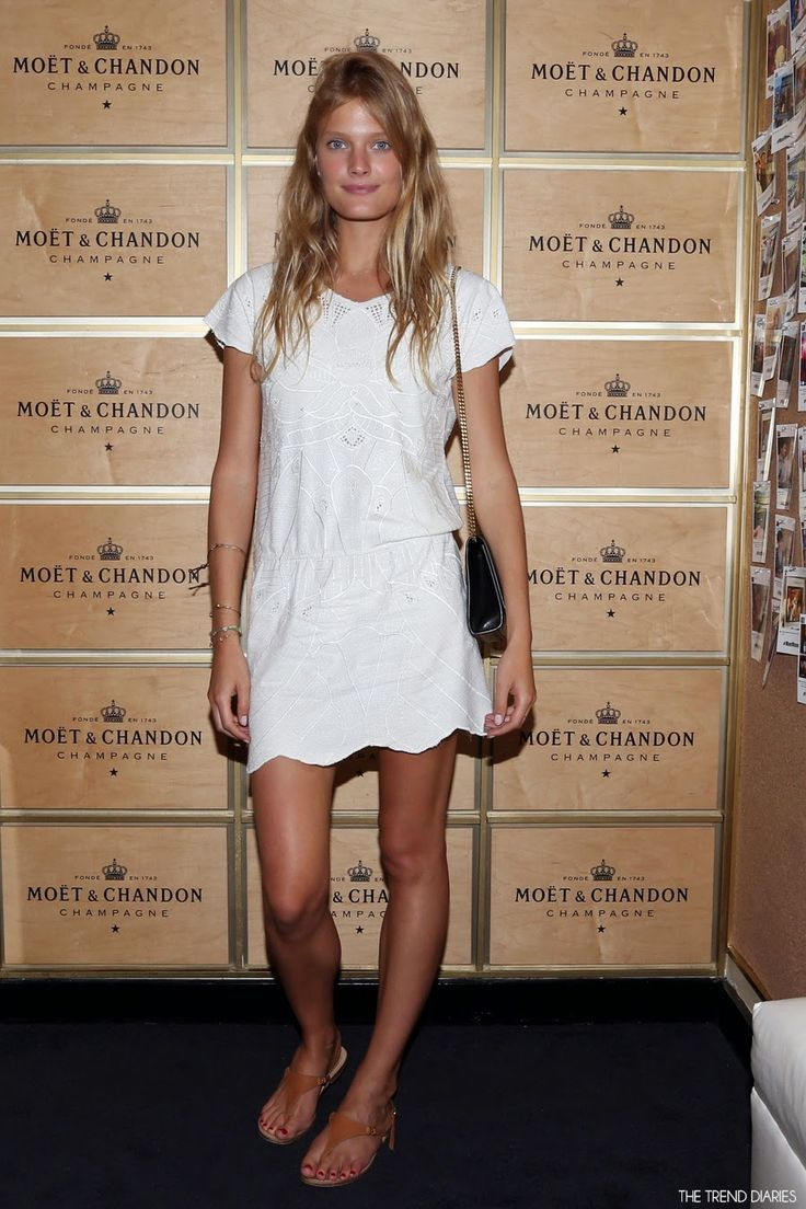 Constance Jablonski at the Moet VIP Suite on Day 9 of the US Open Tennis Championships in New York City, New York - September 2, 2014
