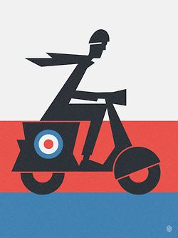 Vintage poster - We are the Mods