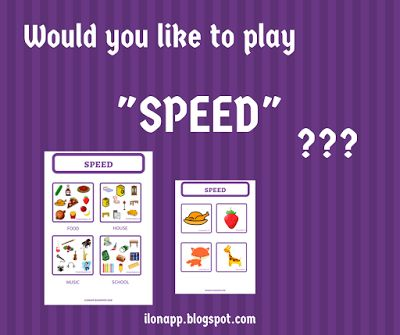 English Freak: SPEED - A VOCABULARY GAME (PRINTABLE)