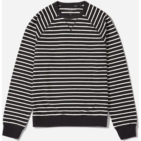 Everlane Men's Reverse French Terry Crew Sweater ($45) ❤ liked on Polyvore featuring men's fashion, men's clothing, men's sweaters, mens sweaters, men's crewneck sweaters and mens crew neck sweaters