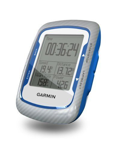Garmin Edge 500 Cycling GPS by Garmin. $249.99. Amazon.com                Sharpen your cycling performance with Edge 500, a lightweight GPS-based cycling computer for performance-driven cyclists. Loaded with data, Edge 500 tracks your distance, speed, location and elevation with high sensitivity GPS. Add an ANT+ compatible heart rate monitor, speed/cadence sensor or compatible power meter for a finely-tuned analysis of your ride.                  Sharpen your cycling perfo...