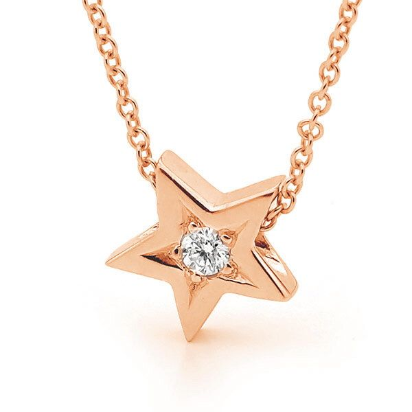Rose Gold natural Diamond Star Pendant- with or without chain by argentonDesign on Etsy https://www.etsy.com/listing/234272945/rose-gold-natural-diamond-star-pendant