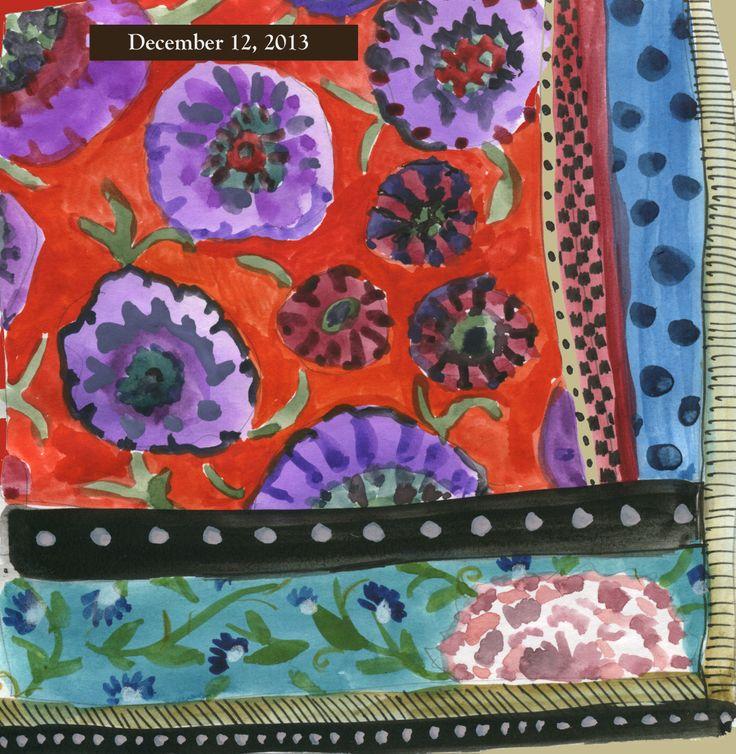 Julie Powell 12-12-13 | Art journal prompts, Simple art