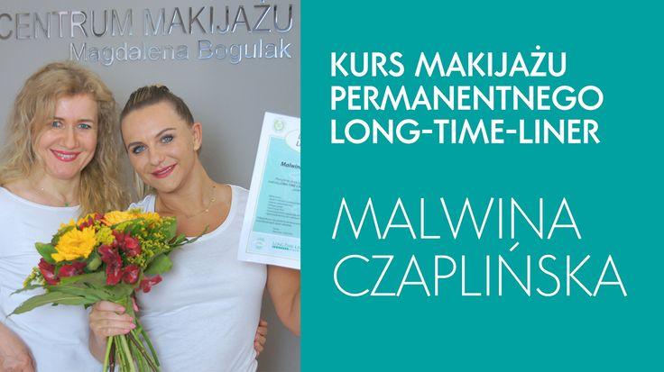 """Malwina Czaplińska zmieniła metodę pracy na Long-Time-Liner i ukończyła właśnie kurs makijażu permanentnego """"zmiana metody"""". Gratulujemy i dziękujemy za wybór naszego centrum szkoleniowego!"""