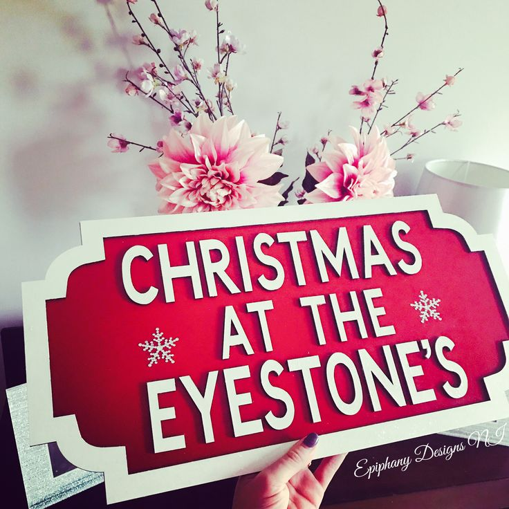 Street sign - Christmas - personalised - wall hanging