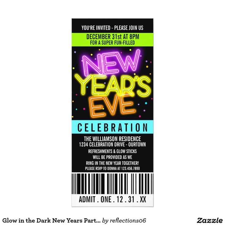53 best New Years Eve Party Invitations images on Pinterest ...