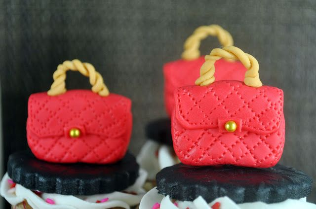 Bake Happy: How to Make a Designer Red Purse Fondant Cupcake Topper www.lvstyles-show.at.nr/   $129.9!!!Biggest sale of the season. Louis Vuitton Artsy MM Brown Totes! Save up to 80% off