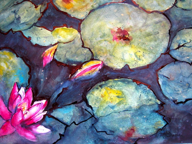 Image detail for -Lotus Flower Painting by Myra Evans - Lotus Flower Fine Art Prints and ...