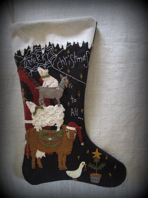 Merry Christmas to All Christmas Stocking PRINTED PATTERN by cheswickcompany by cheswickcompany on Etsy https://www.etsy.com/listing/196705428/merry-christmas-to-all-christmas