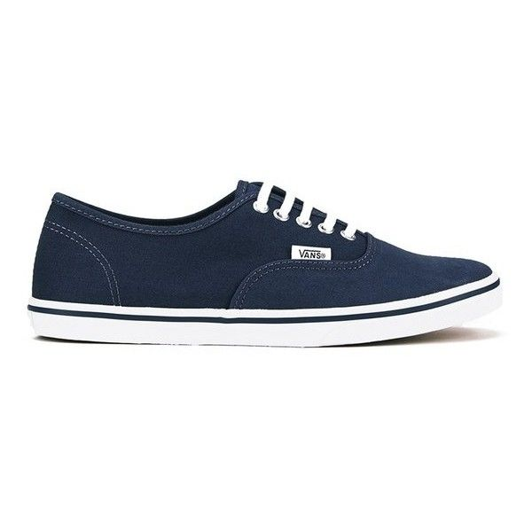 Vans Women's Authentic Lo Pro Trainers - Ombre Blue/True White ($49) ❤ liked on Polyvore featuring shoes, sneakers, blue, white trainers, white sneakers, low sneakers, low top sneakers and blue shoes